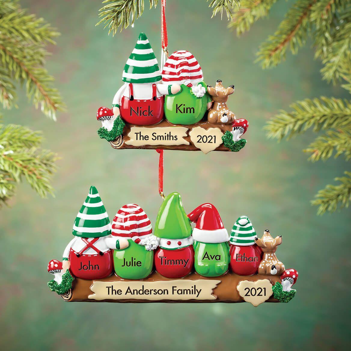 Personalized Gnome Family Ornament-368538