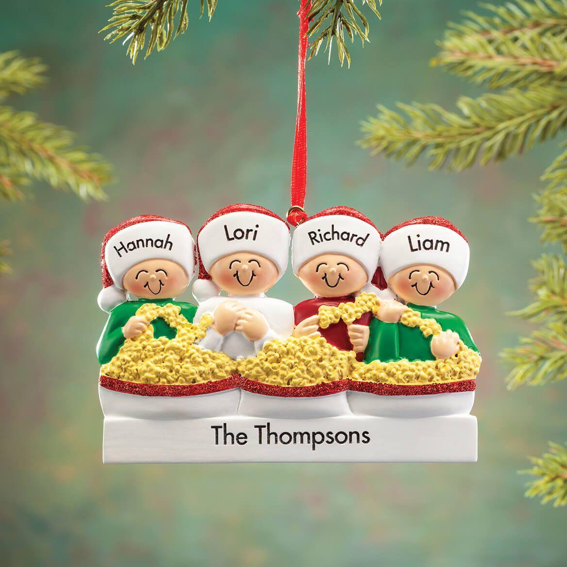Personalized Stringing Popcorn Family Ornament-368556