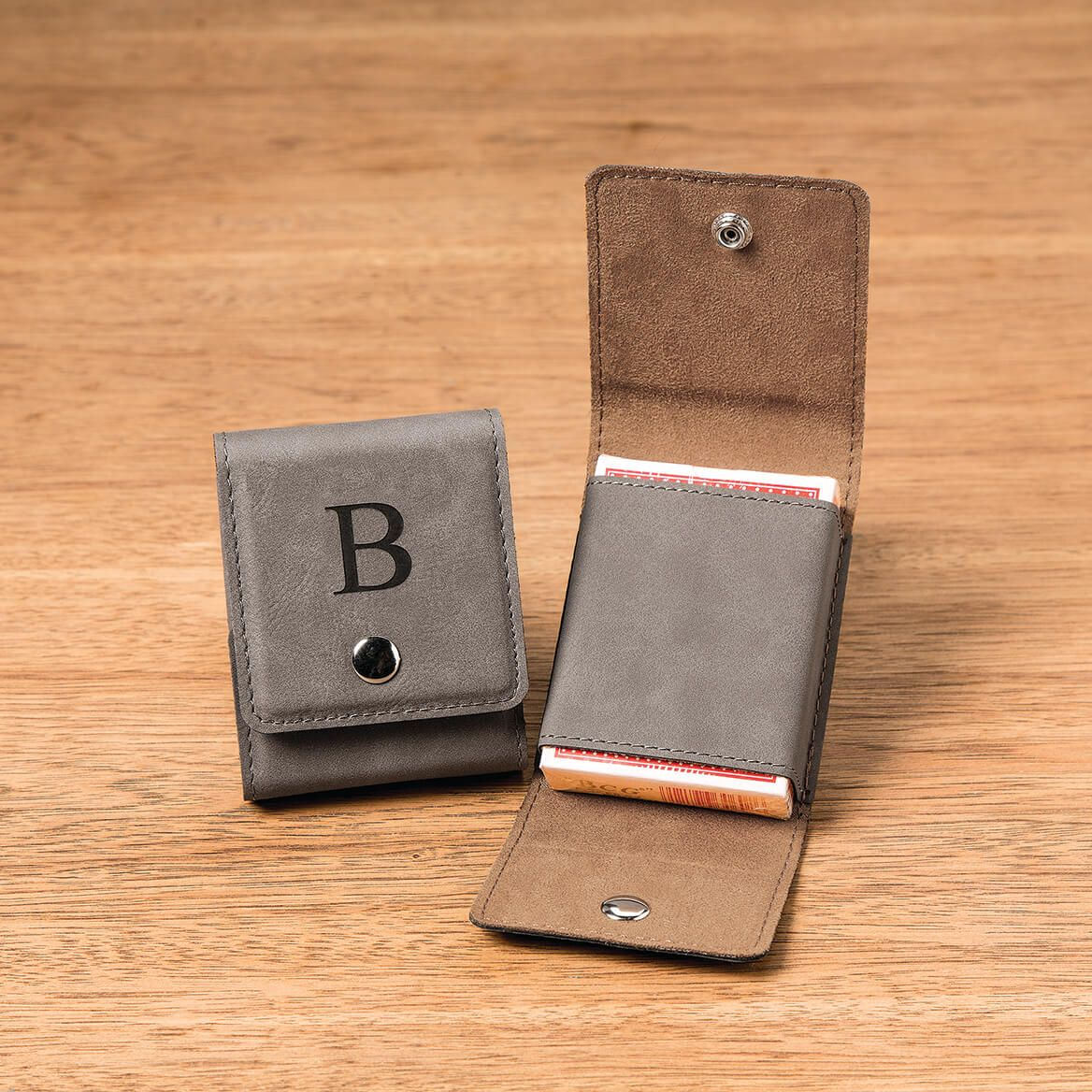 Personalized Leather Card Holder and Cards-368577