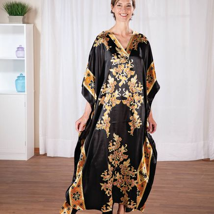 Black and Gold Shiny Caftan-368714