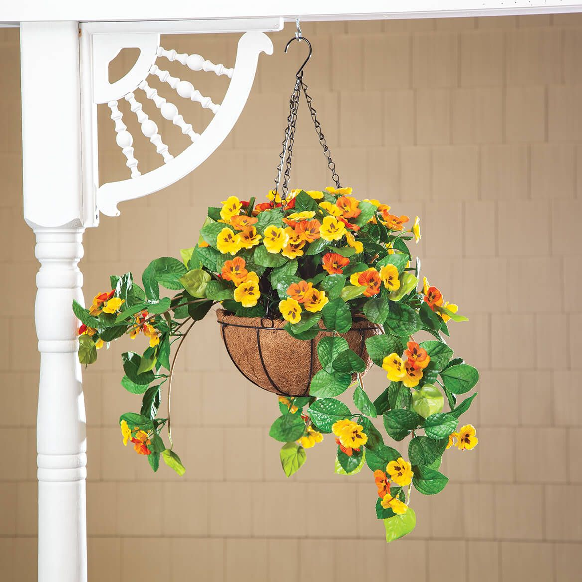 Fully Assembeld Pansy Hanging Basket by OakRidge™-368881