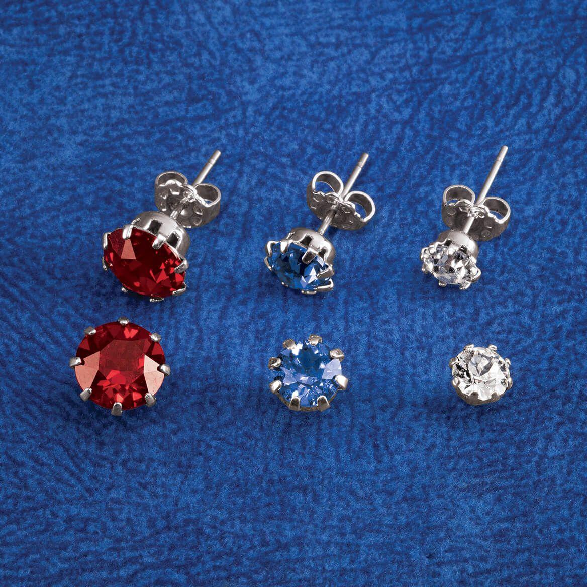 Crystal Colors Swarovski Prong Earring Set of 3-368894