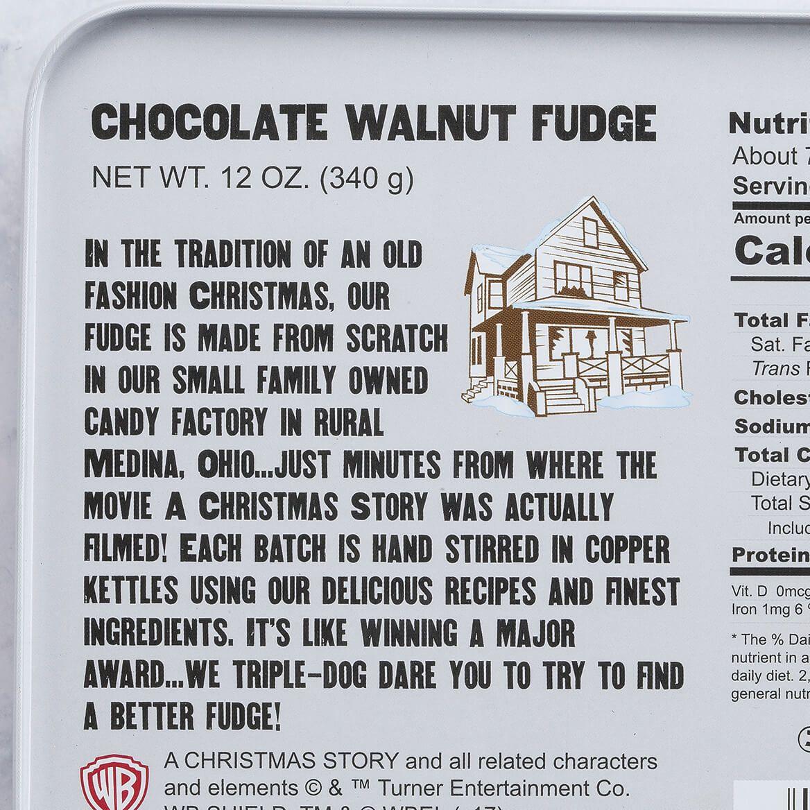 A Christmas Story Fudge Tin, Chocolate Walnut, 12oz.-368945