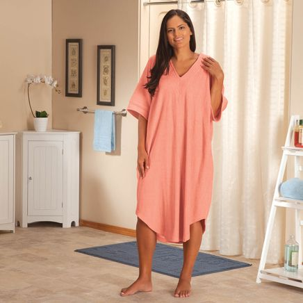 V Neck Coral Terry Caftan by Sawyer Creek-368959