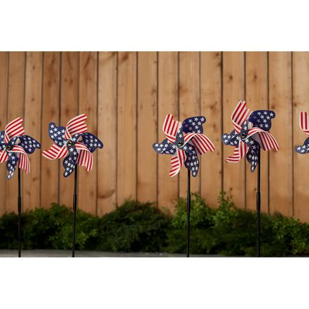 Patriotic Lawn Pinwheels, Set of 6-369024