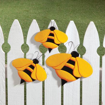 Metal Bumblebee Hangers, Set of 3-369032