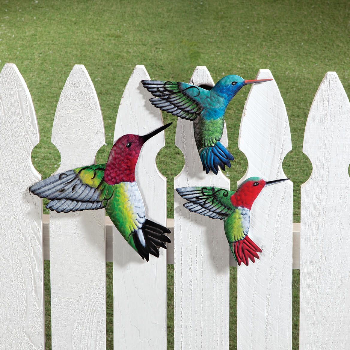 Metal Hummingbird Hangers, Set of 3 by Fox River™ Creations-369033