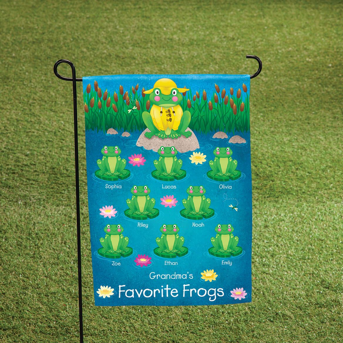 Personalized Frog Garden Flag-369061