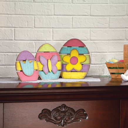 Wooden Egg Tabletop Décor by Holiday Peak™, Set of 3-369148