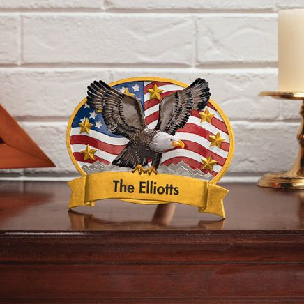 Personalized Patriotic Eagle Plaque-369152