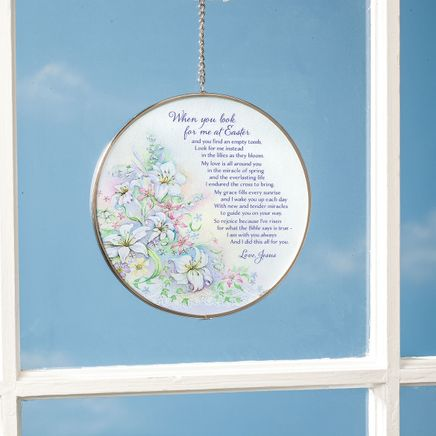 """Look for Me at Easter"" Suncatcher by Holiday Peak™-369161"