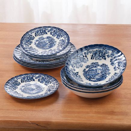 Tonquin Blue 12 Piece Dinnerware Set-369193