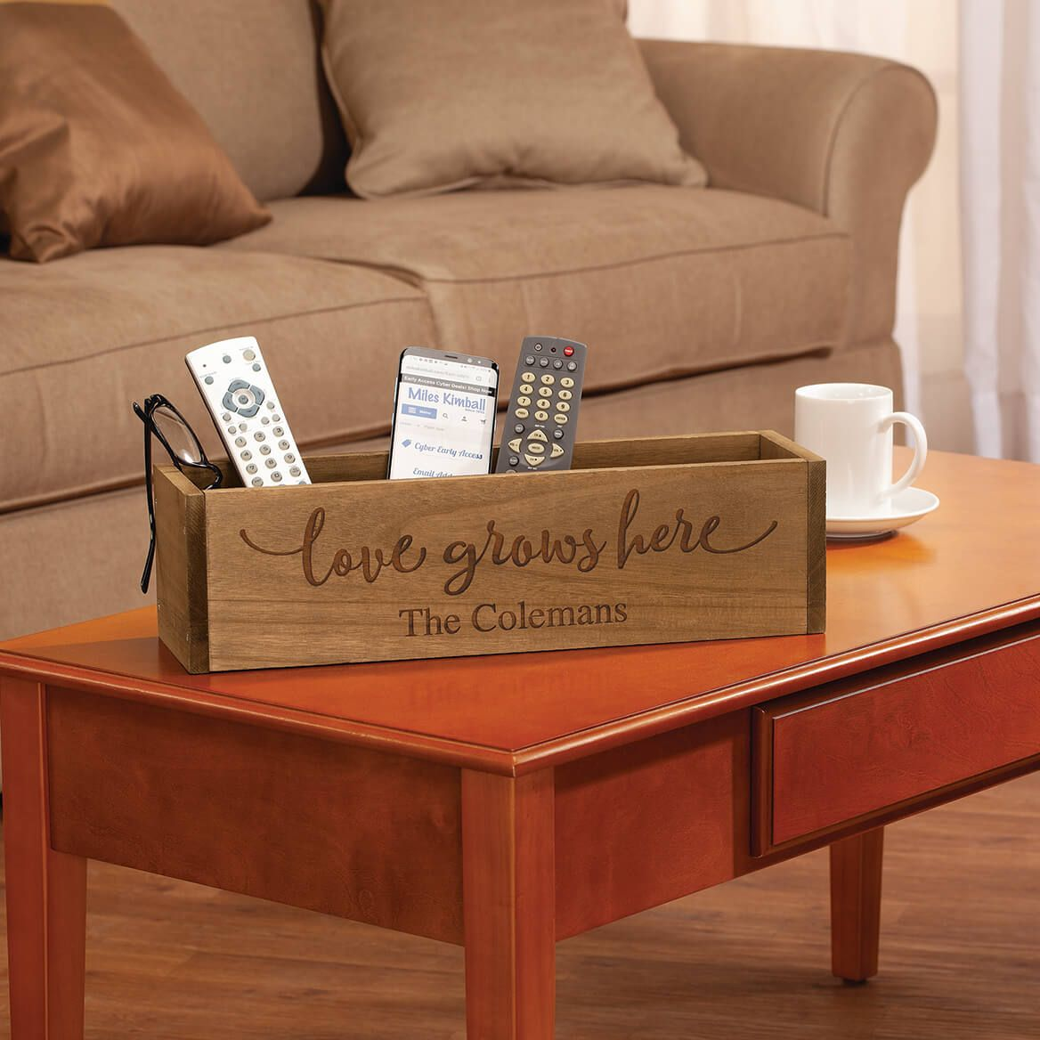 Personalized Wooden Planter Box, Love Grows Here-369254