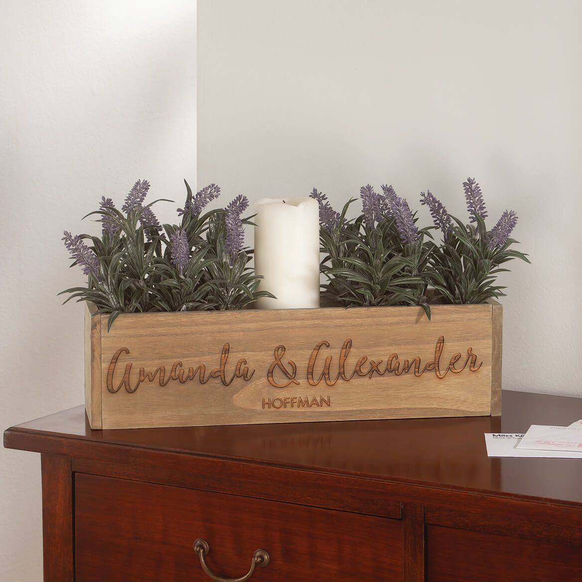 Personalized Wooden Planter Box, Family Name-369257