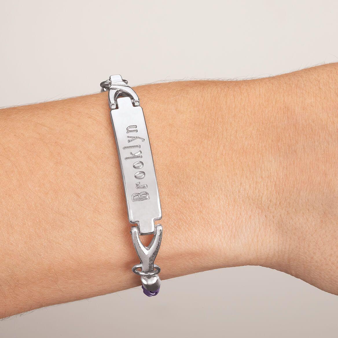 Personalized Purple Children's ID Bracelet-369282