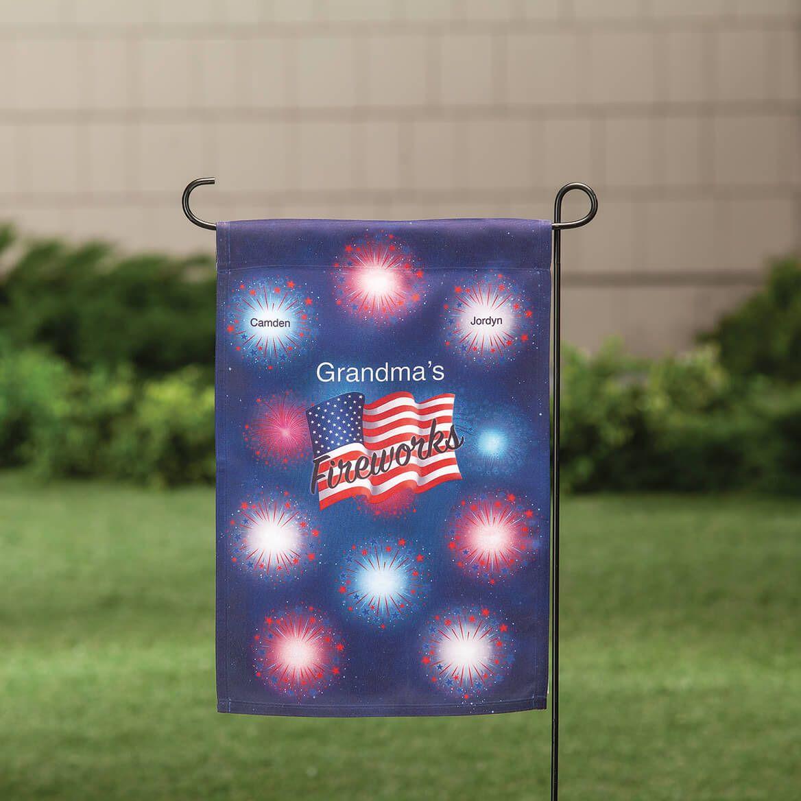 Personalized Patriotic Fireworks Garden Flag-369342
