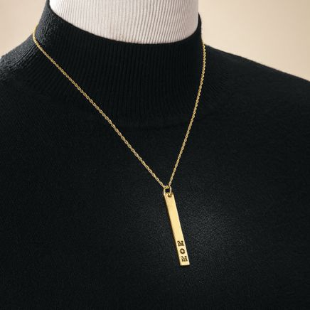 Personalized Gold Bar Necklace-369357