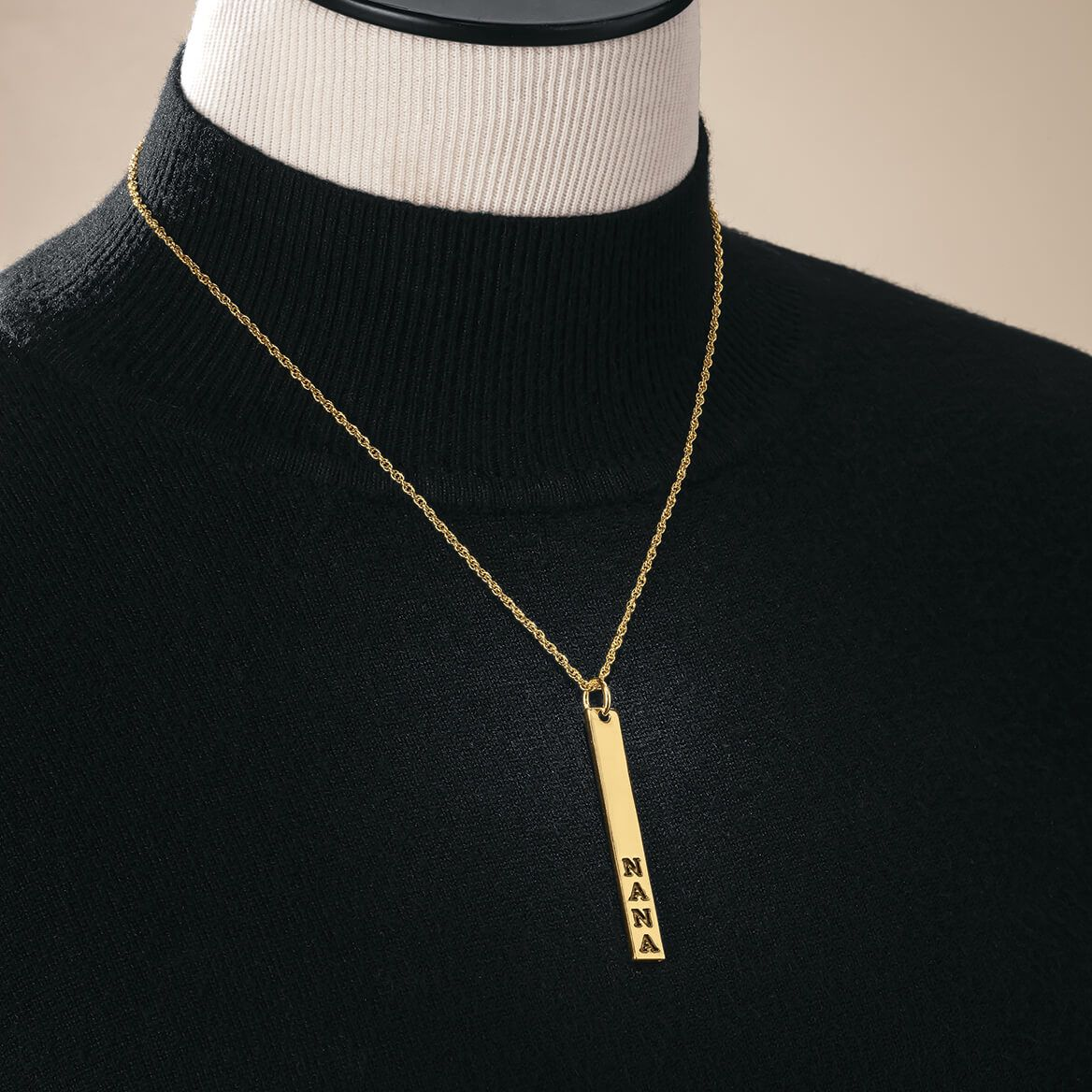 Gold Bar Necklace-369357
