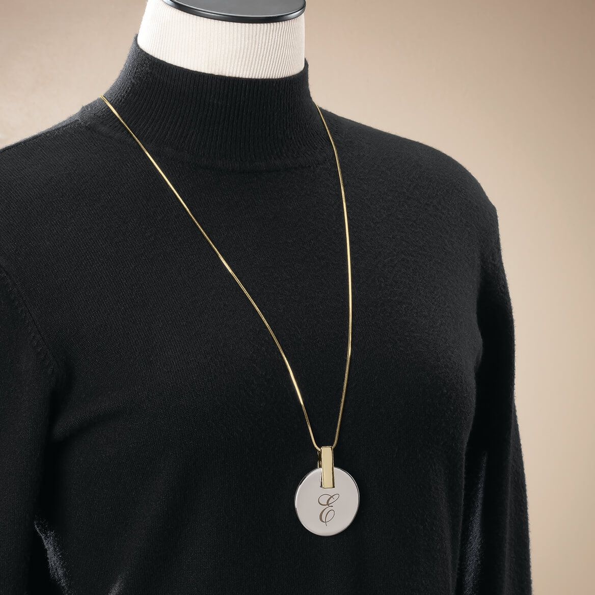 Personalized Large Disc Necklace-369360