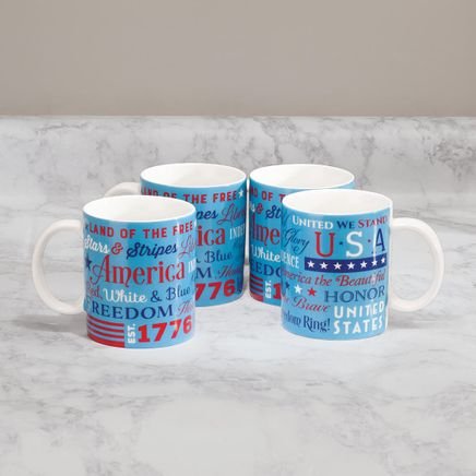 American Patriot Mugs by William Roberts, Set of 4-369388