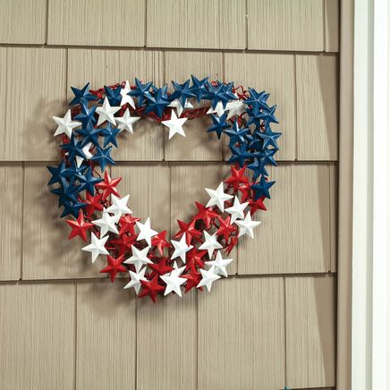 Metal Heart-Shaped Patriotic Wreath by Fox River Creations™-369405