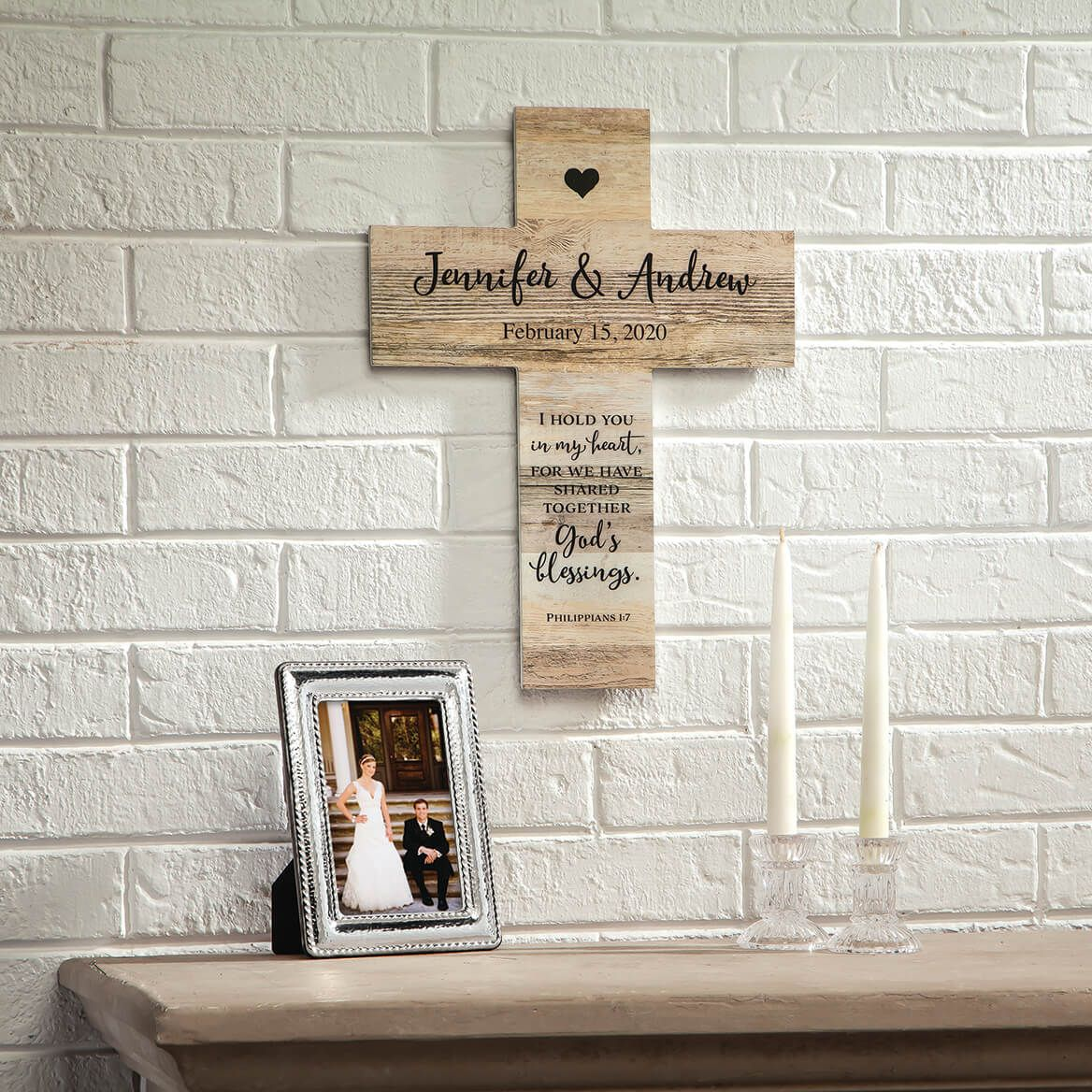 Personalized Rustic Style Cross, Couples-369438