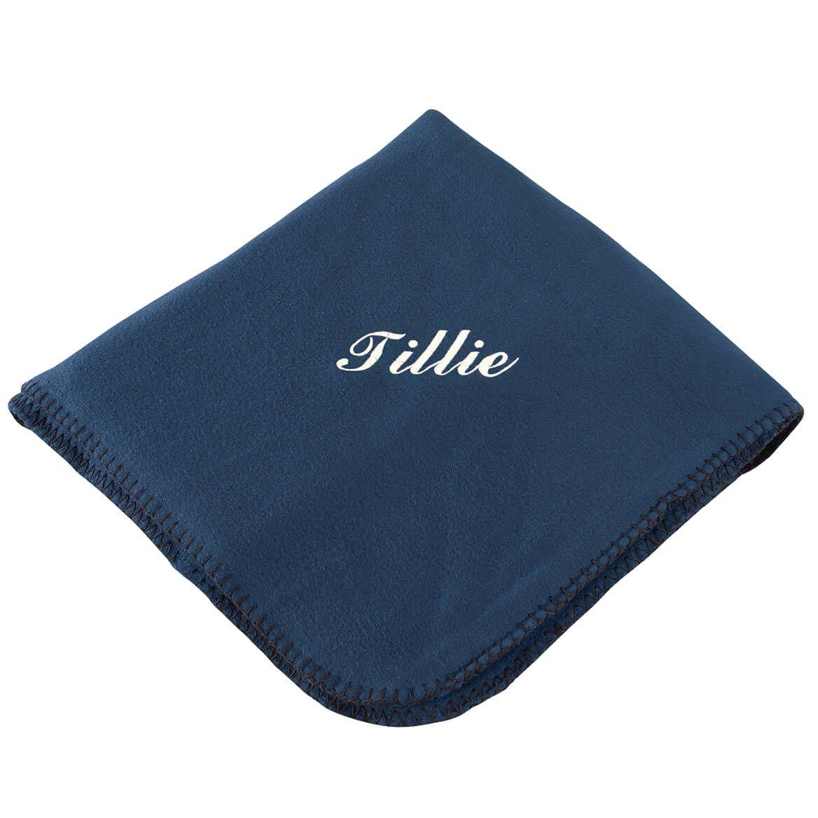 "Personalized Navy Fleece Blanket 50""x60""-369517"