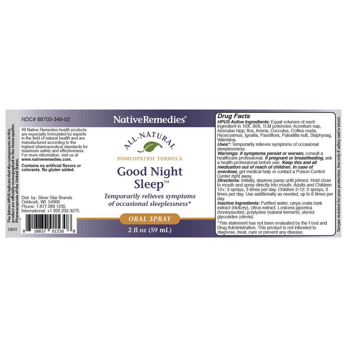 NativeRemedies®Good Night Sleep Oral Spray-369550