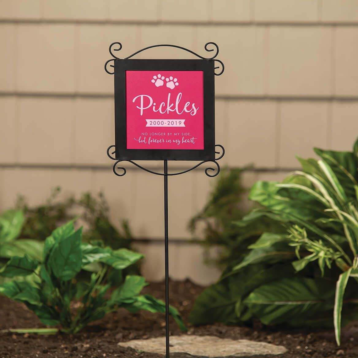 Personalized Metal Stake with Pet Memorial Plaque-369576