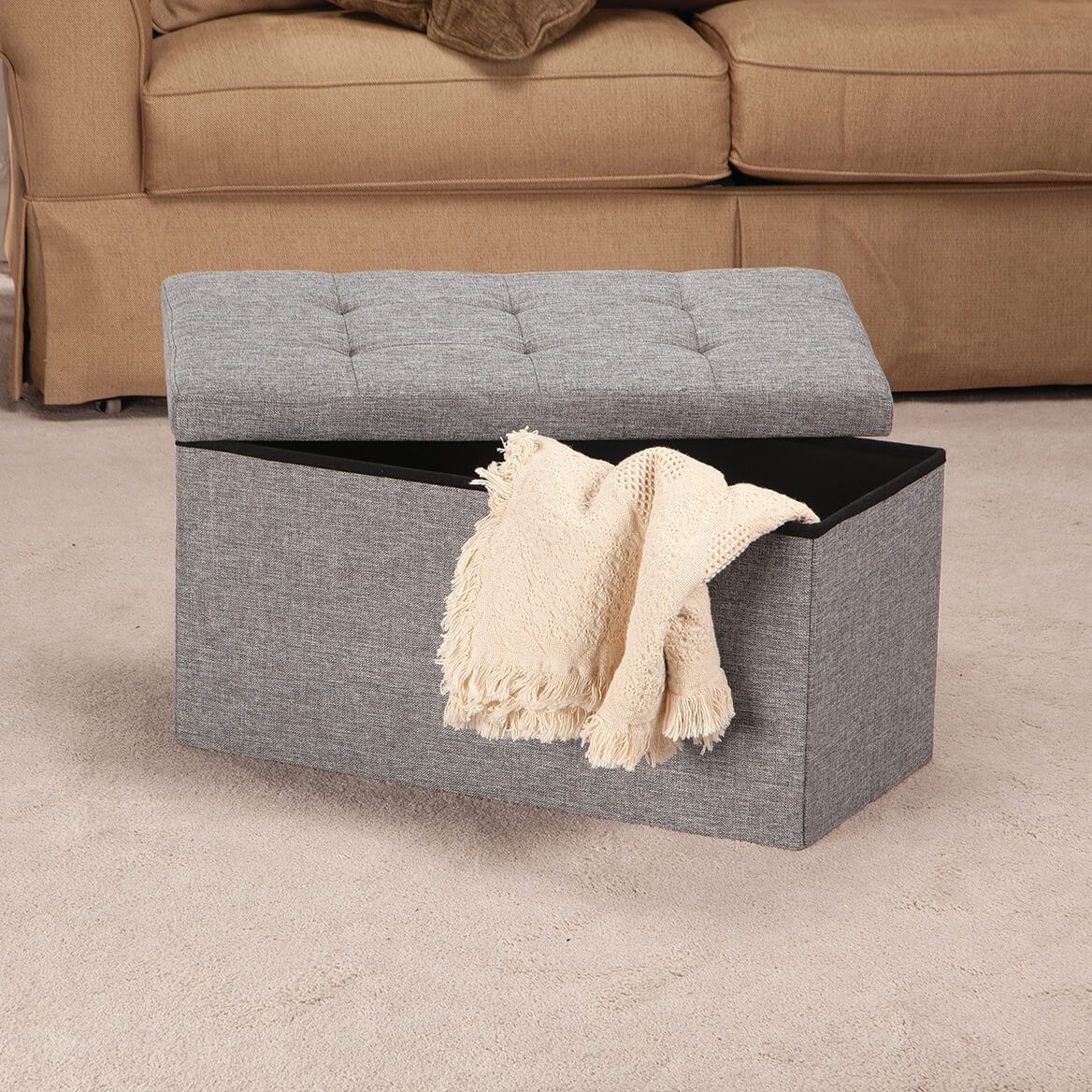 Large Folding Storage Ottoman              XL-369584