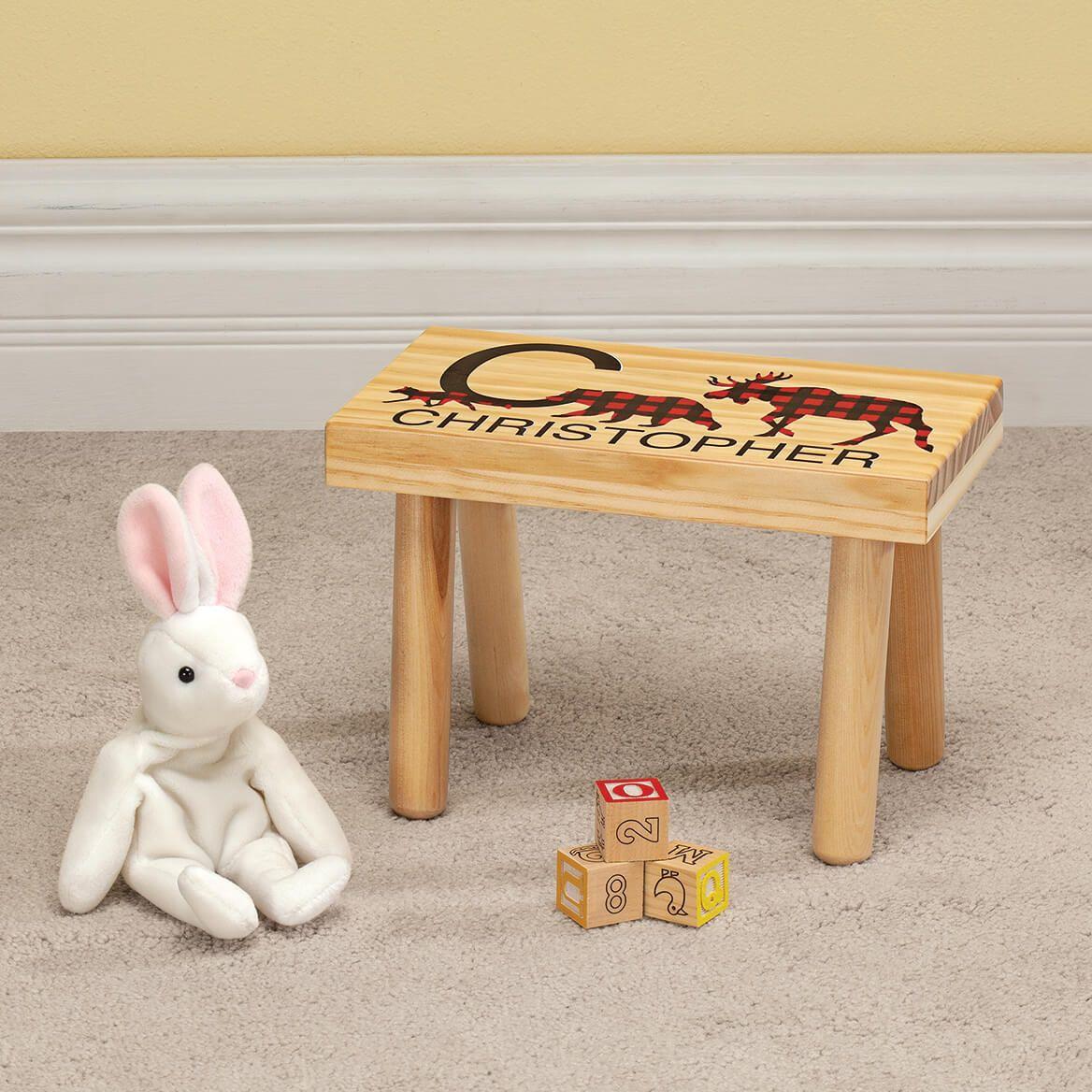 Personalized Children's Buffalo Plaid Step Stool-369613