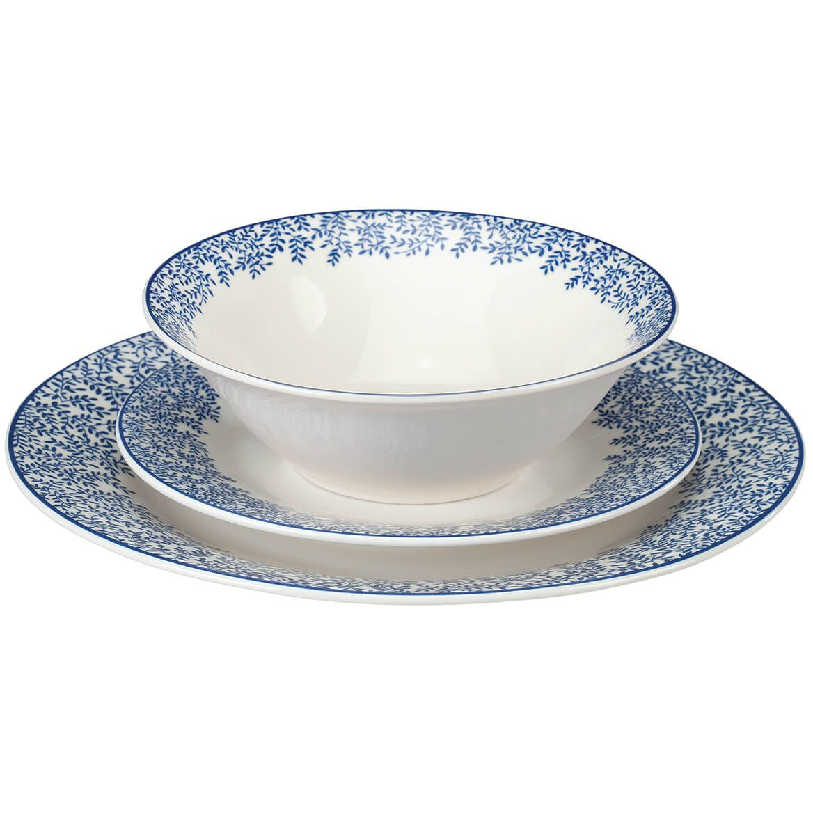 Blue Chantilly Porcelain Dinnerware by William Roberts 12-Pc. set-369661