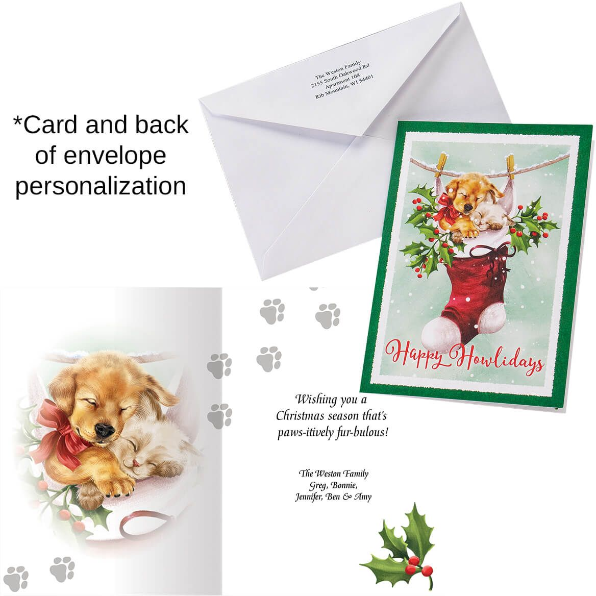 Cozy Greetings Christmas Cards set of 20-370186