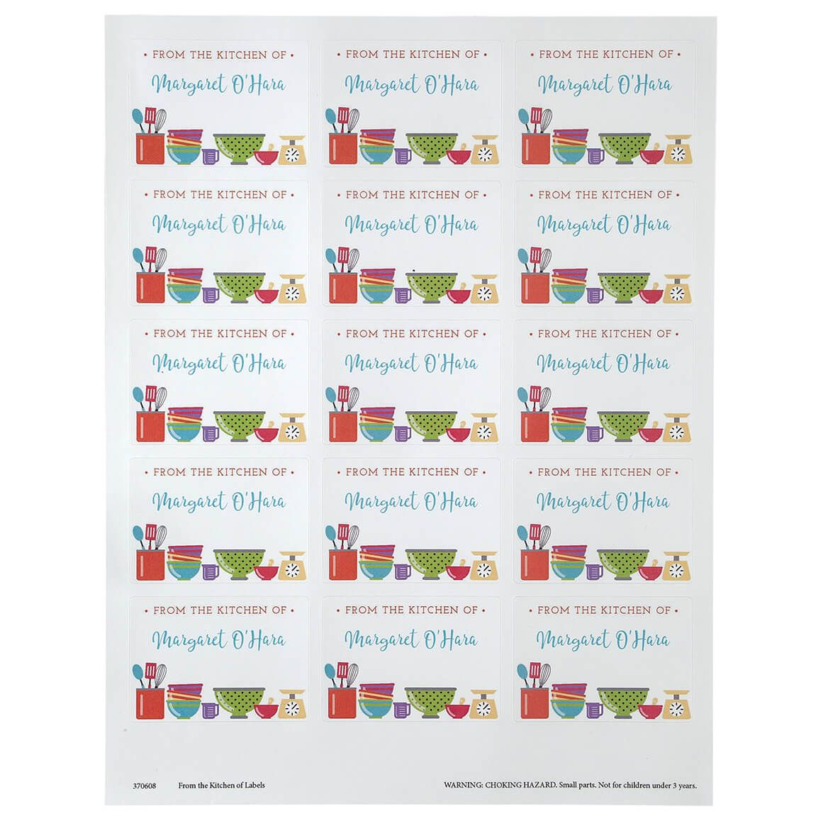 Personalized From the Kitchen of Labels Set of 60-370608