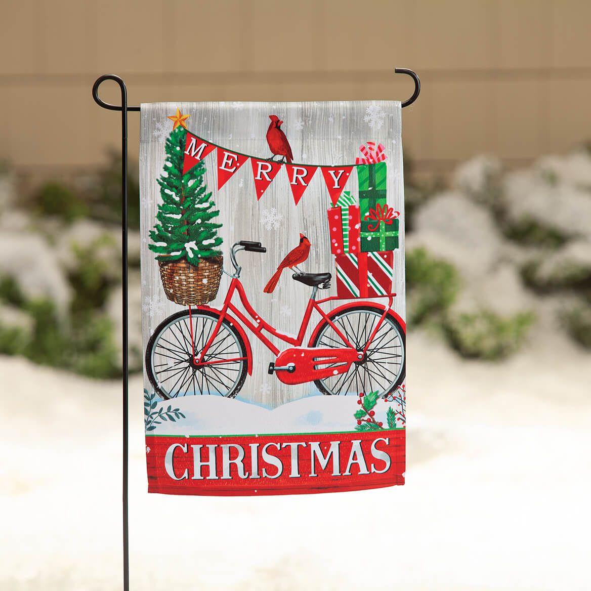 Merry Christmas Bike Garden Flag-370660