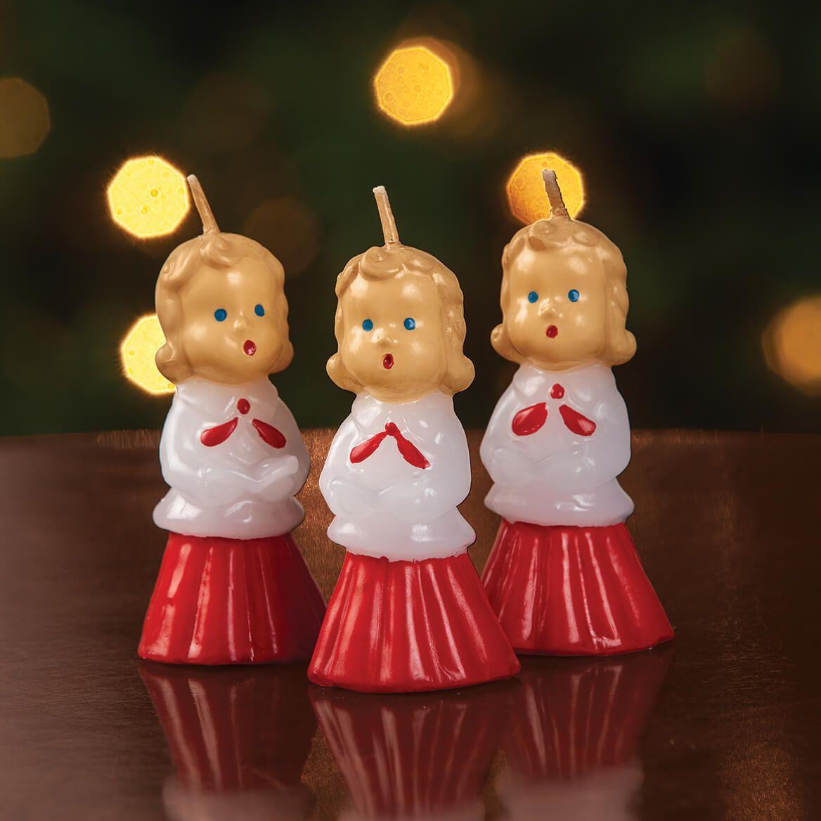 Vintage Christmas Caroler Candle Trio-370730
