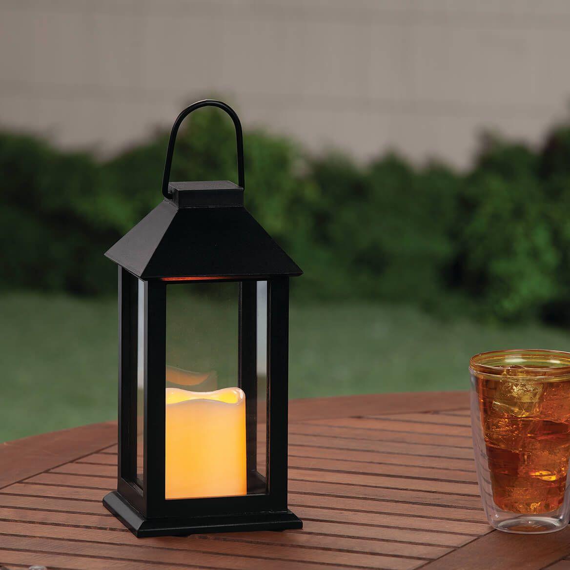 Black Metal LED Candle Lamp-370936