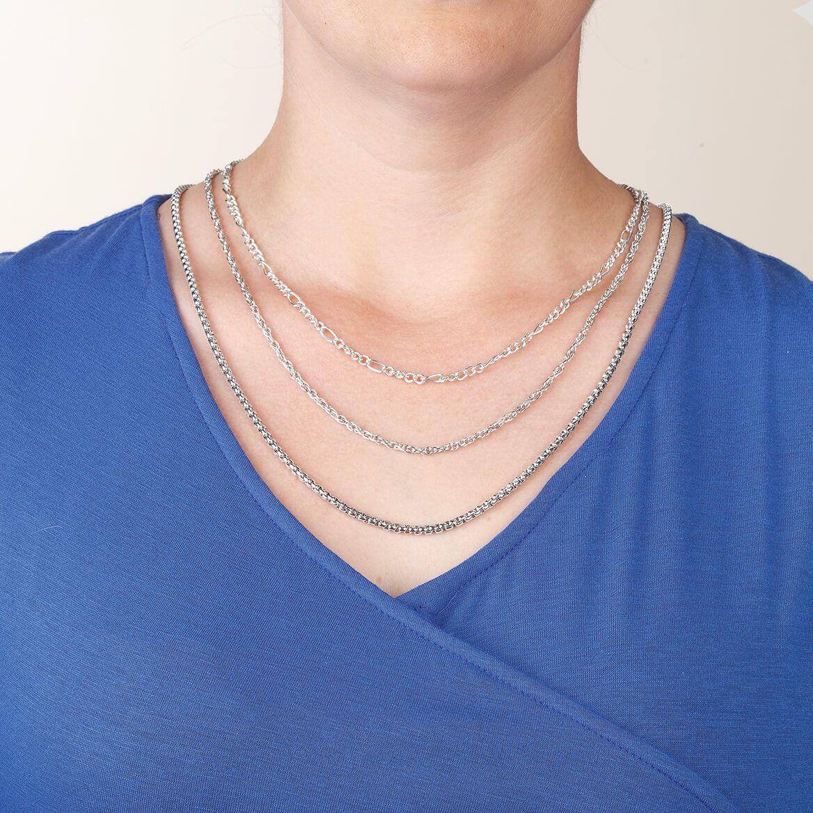 Layered Necklace Spacer with Magnetic Clasp 2-Pc. Set-370953