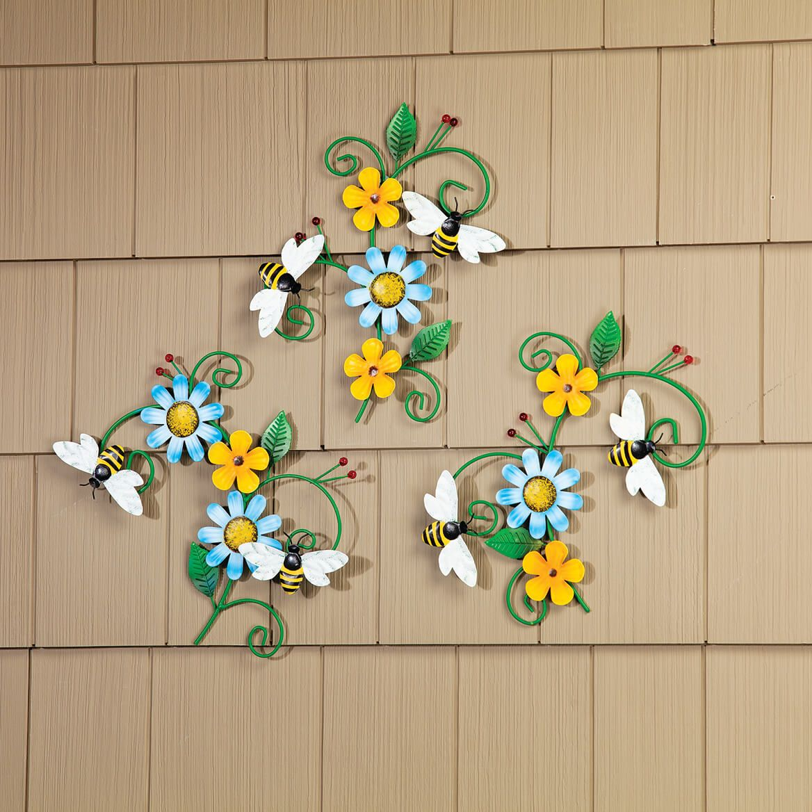 Bee and Flower Hangings, Set of 3 by Fox River™ Creations-371189