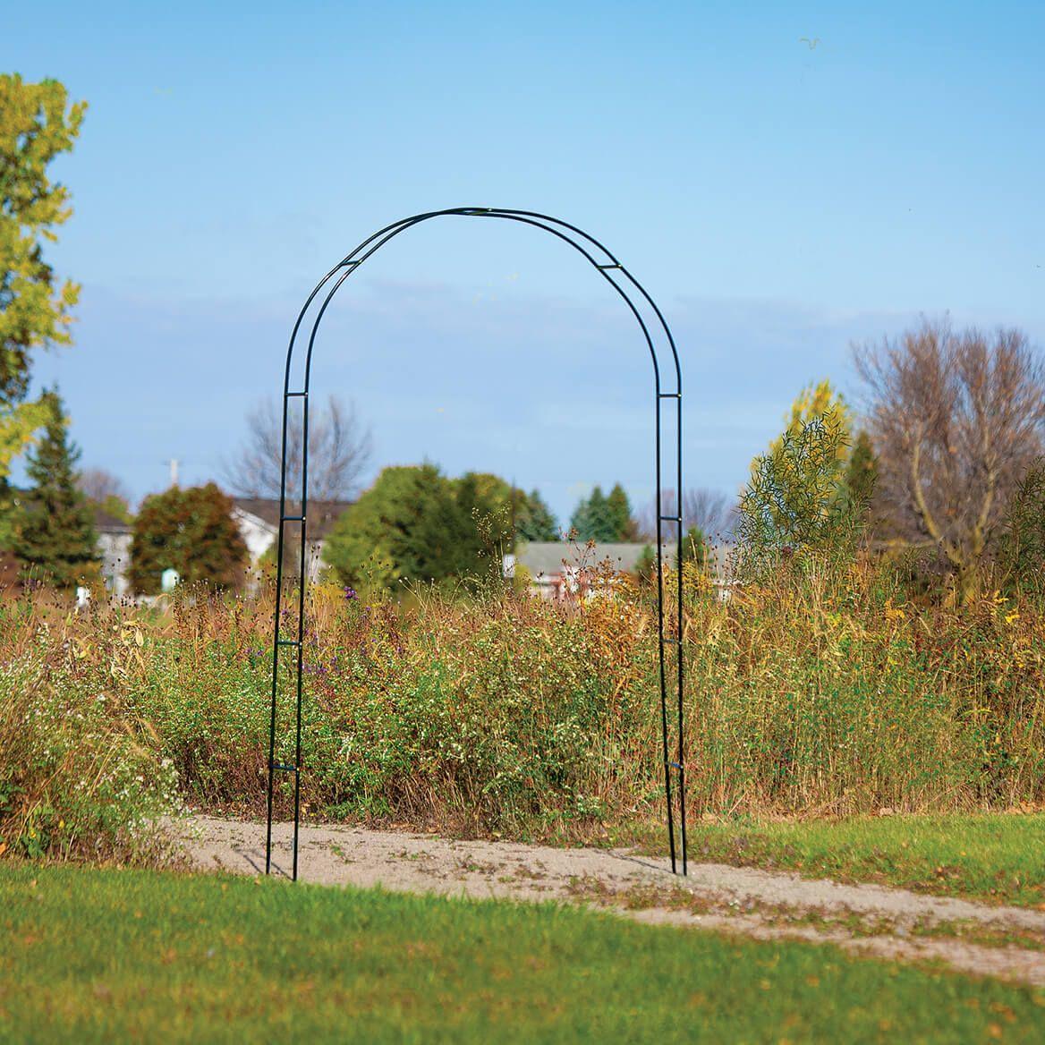 Green Arched Garden Trellis-371193