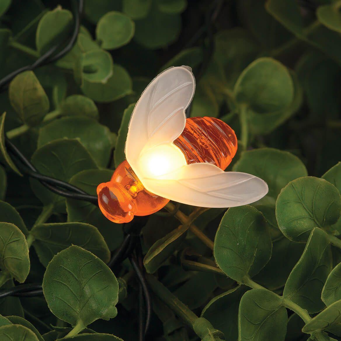 Solar Honey Bee LED String Lights-371329