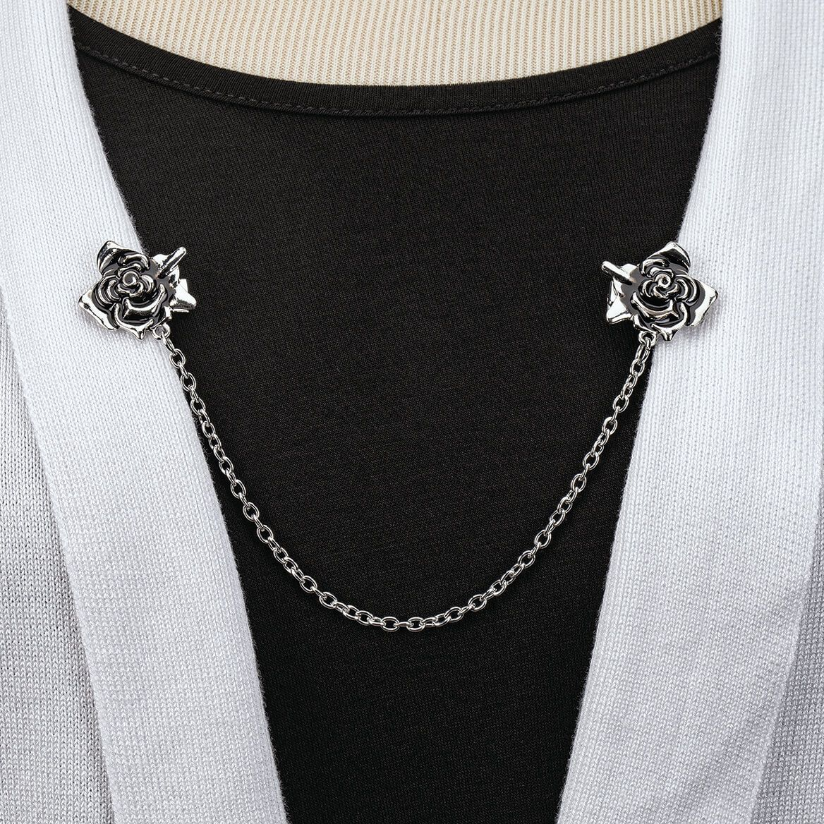 Vintage Rose Dual Chain Clips-371349