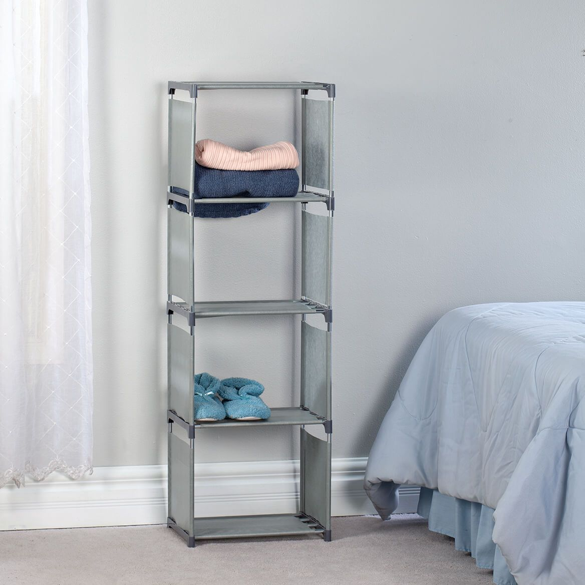 Steel Reinforced Gray Fabric Shelf System-371355