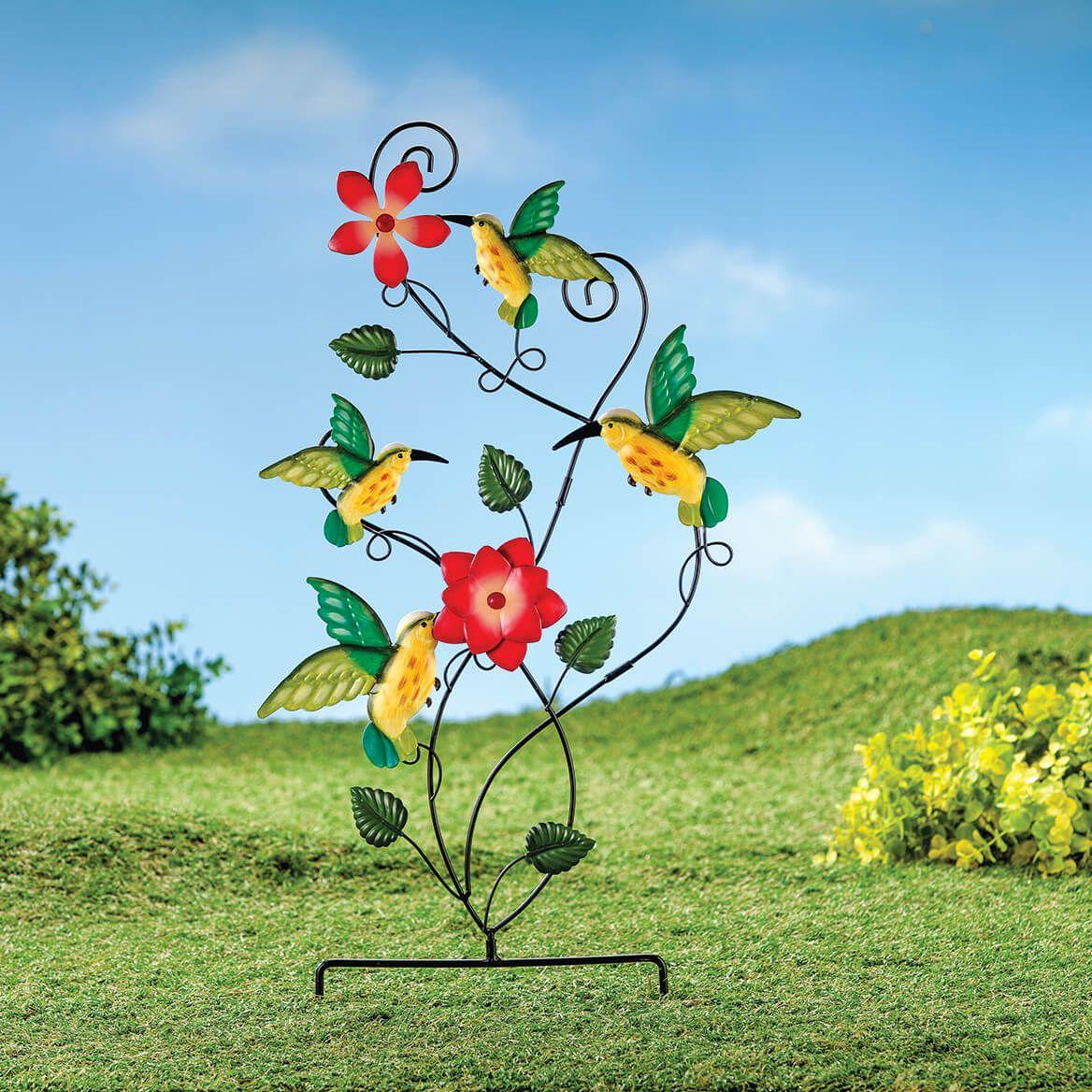 Metal Hummingbird Trellis Stake by Fox River™ Creations-371491