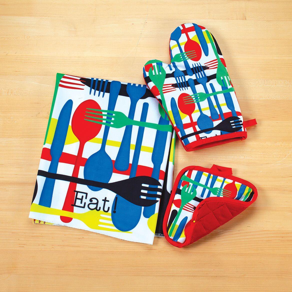 Whimsical Kitchen Towel, Oven Mitt & Pot Holder Set-371627