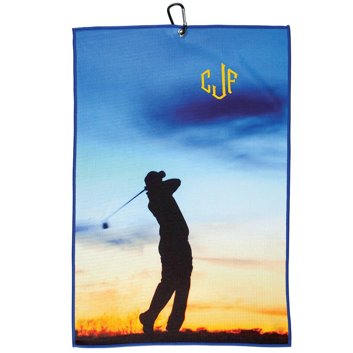 Personalized Vertical Silhouette Microfiber Golf Towel-371791