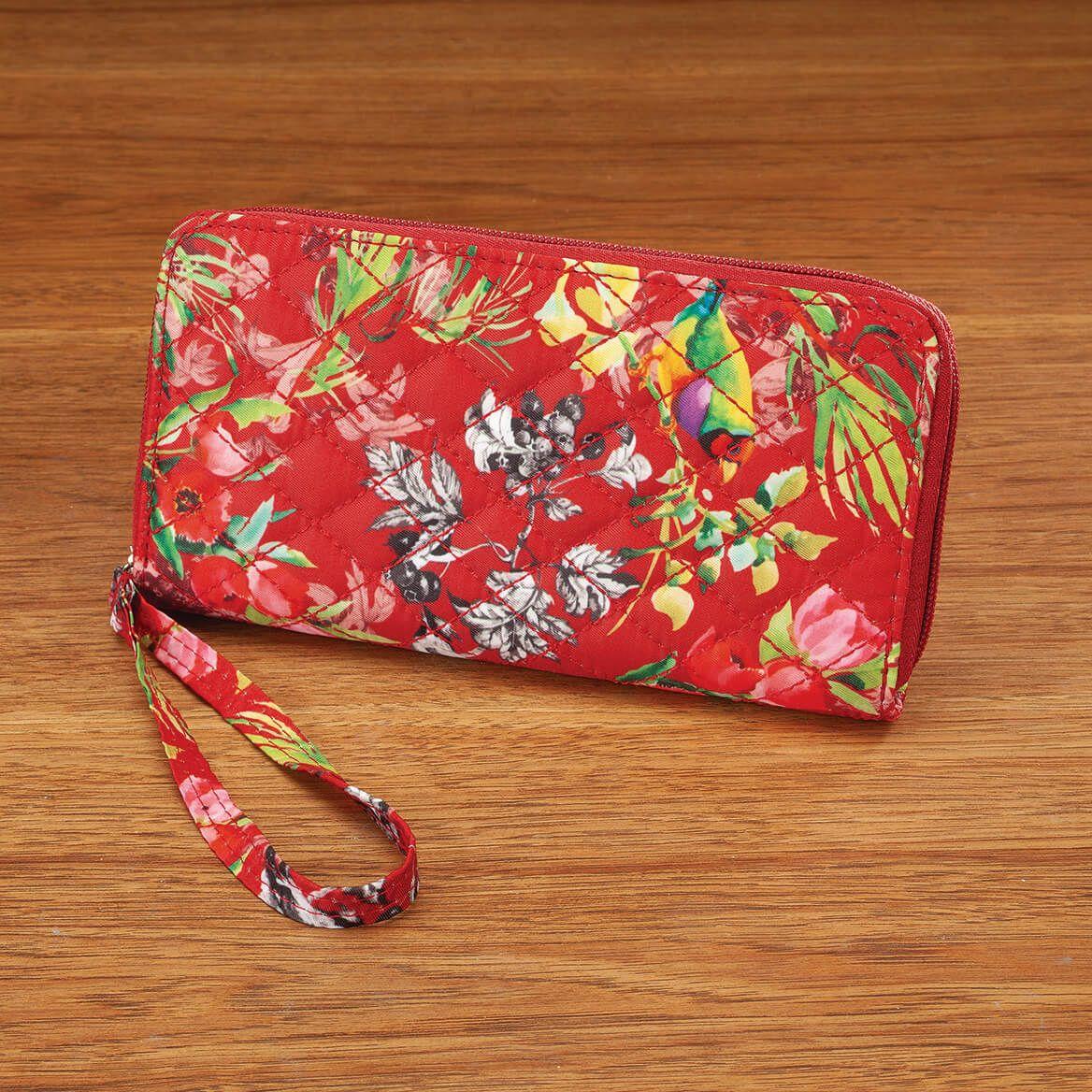 Quilted RFID Zip-Around Wallet/Wristlet-371815