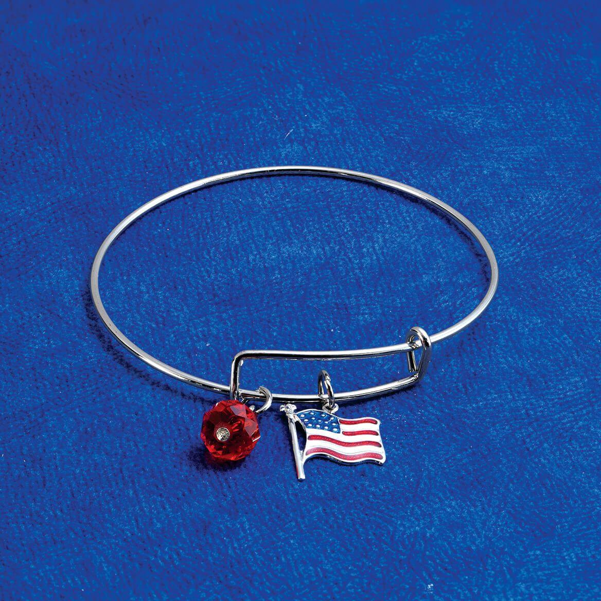 Patriotic Adjustable Charm Bracelet-371852