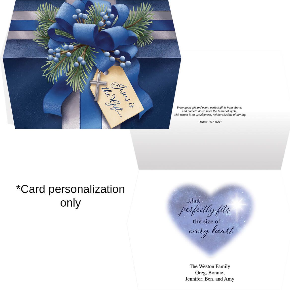 The Perfect Gift Christmas Card Set of 20-371900