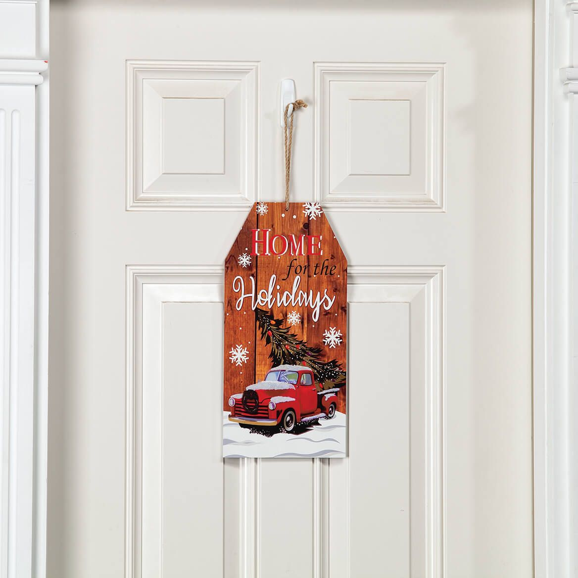 Reversible Christmas Wall Tag by Holiday Peak™-371909